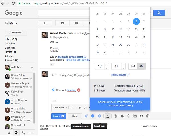 MailTag para Gmail ofrece seguimiento del correo electrónico, programación y seguimiento automático 3