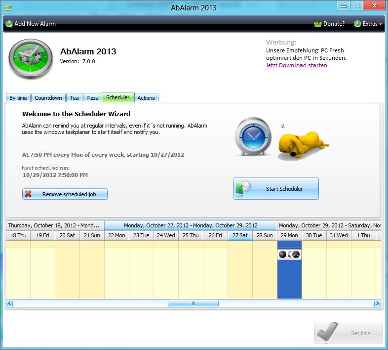 AbAlarm: Un despertador gratuito para Windows PC