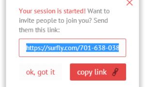 Usa Surfly para navegar, compartir y trabajar juntos