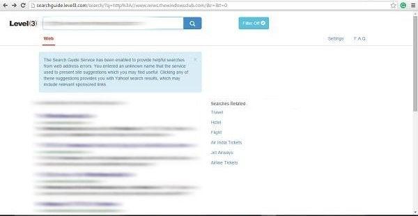 Cómo eliminar el secuestrador del navegador Searchguide Level 3