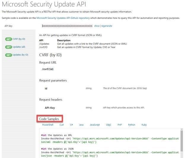 Portal de la Guía de actualizaciones de seguridad de Microsoft