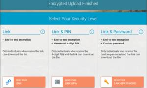 Whisply le permite transferir archivos a través del servicio Cloud Storage utilizando Encryption