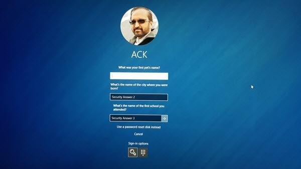 Agregar preguntas de seguridad para restablecer la contraseña de la cuenta local de Windows 10
