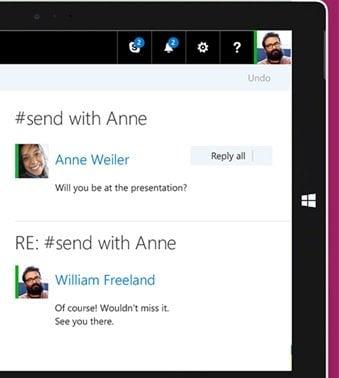 Microsoft Send es una aplicación de correo electrónico similar a la mensajería instantánea para iPhone
