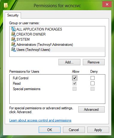 Windows no pudo iniciar Service, Error 0x80070005, Error de acceso denegado en Windows 10 4