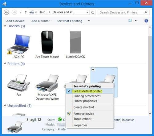 El comando Imprimir abre los cuadros de diálogo Enviar a una nota, Guardar como, Enviar fax, etc.