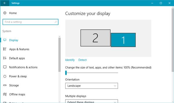 Cómo configurar diferentes fondos de pantalla en monitores duales en Windows 10 1