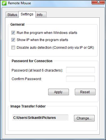Ratón remoto: Convertir un teléfono móvil en ratón y teclado