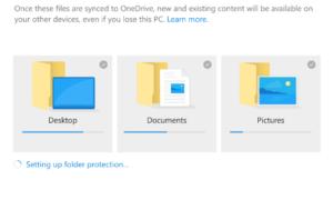 Cómo utilizar la función de desplazamiento de carpetas conocidas en OneDrive