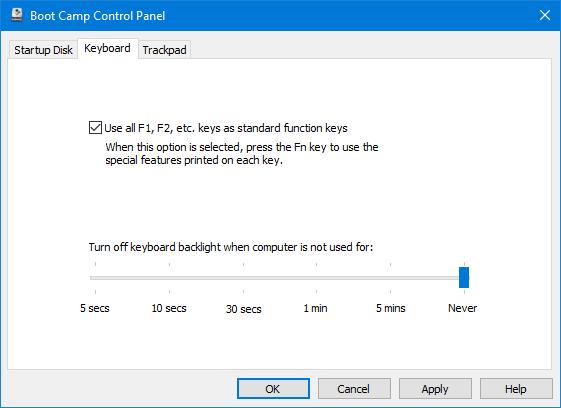 Usa Boot Camp para configurar el teclado y el trackpad después de instalar Windows 10 en el MacBook 2