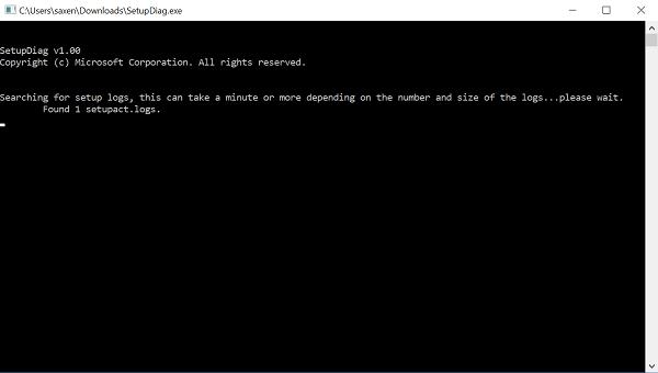 SetupDiag.exe le ayudará a diagnosticar los errores de Windows 10 Upgrade