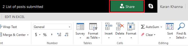 Cómo Coautor y Colaborador de Cuadernos de Trabajo Excel al mismo tiempo
