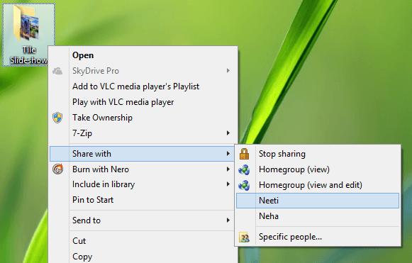 No se puede acceder a la carpeta Compartida en Windows 10/8, usando Windows 7 PC 1