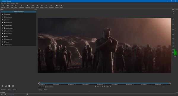 Shotcut es un editor de vídeo gratuito para Windows con soporte para 4K