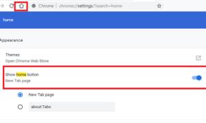 Cómo mostrar u ocultar el botón Inicio en el navegador Chrome
