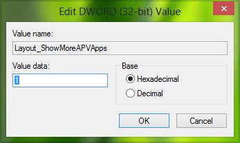 Mostrar menos o más aplicaciones en la pantalla de inicio de Windows 8.1