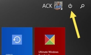 Mostrar o quitar el botón de encendido de la pantalla de inicio de Windows 8.1