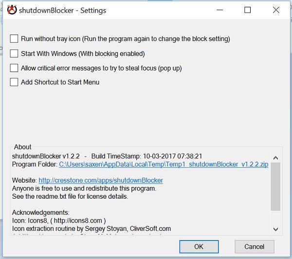ShutdownBlocker, bloquea el apagado accidental o el reinicio del equipo con Windows