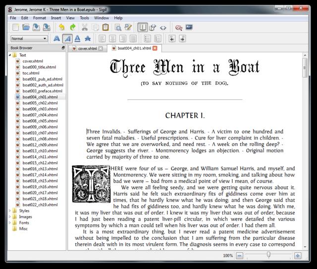 Edite eBooks con formato EPUB con Sigil - Un editor gratuito y de código abierto 1