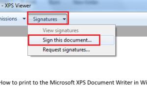 Cómo imprimir en Microsoft XPS Document Writer en Windows 7