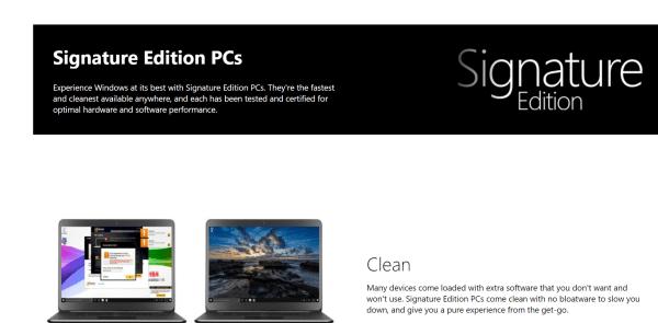 ¿Qué es Microsoft Windows 10 Signature Edition? 1
