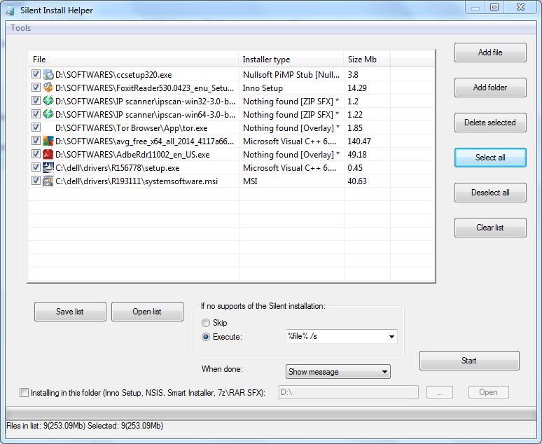 Ayudante de instalación silencioso para la instalación desatendida del software