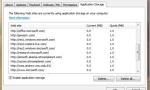 Opciones de configuración y almacenamiento de aplicaciones de Microsoft Silverlight