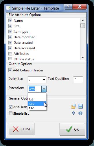 Lista de archivos simples: Enumerar los nombres de los archivos en una carpeta de Windows