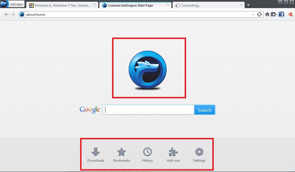 Navegador Comodo IceDragon: Navegador seguro y social basado en el núcleo de Firefox 2
