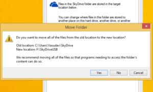 Cómo cambiar la ubicación de la carpeta OneDrive en Windows 8.1