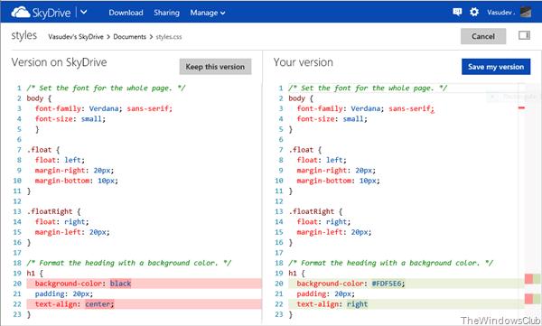 Editar archivos de código usando SkyDrive