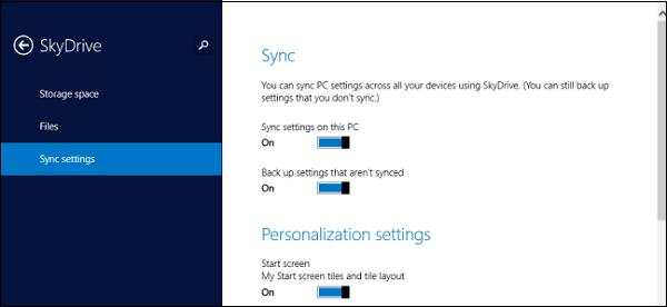 Desactivar y quitar datos de sincronización de OneDrive en Windows 10/8.1 1