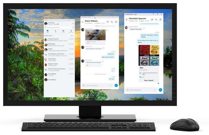 Cómo habilitar y usar Split View en Skype en Windows 10