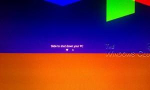 Crear un acceso directo de Diapositiva a Apagado en Windows 10