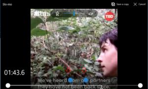 Añada el efecto de cámara lenta a sus vídeos con Windows 10 Photos App