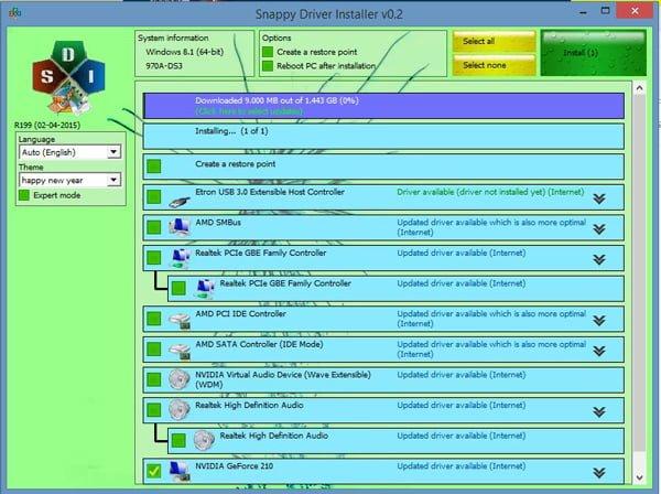 Instalar y actualizar controladores con Snappy Driver Installer