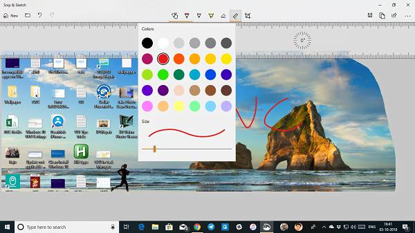 Cómo usar la aplicación Snip & Sketch para capturar y anotar capturas de pantalla en Windows 10