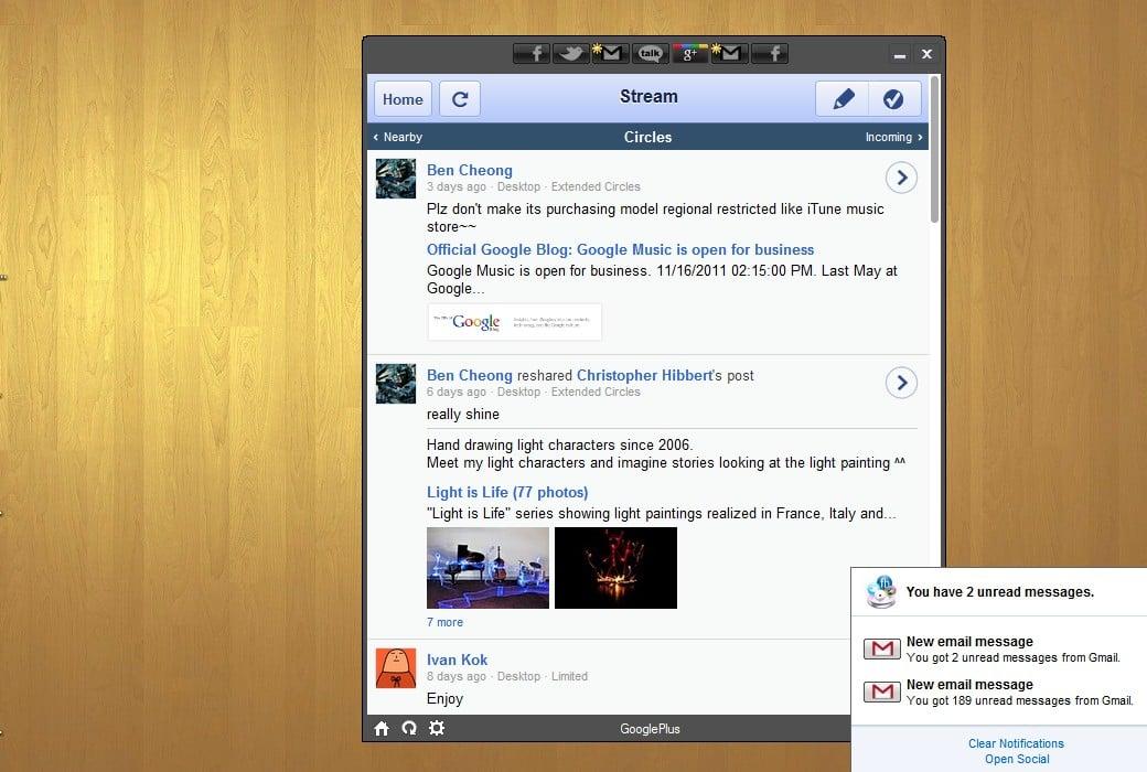 Administre todos sus sitios de redes sociales favoritos con Social Lite