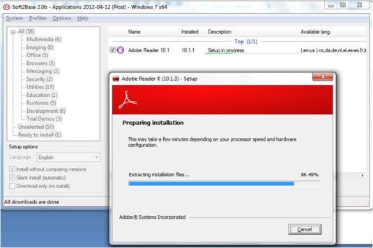 Instale y actualice varios programas con un solo clic con Soft2Base