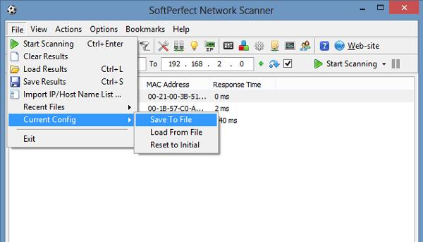SoftPerfect Network Scanner: Una herramienta gratuita de escáner de red para Windows 3