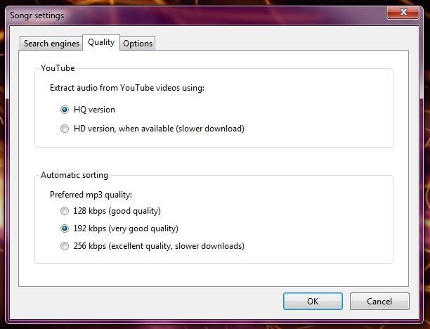 Descargue y busque archivos de música en 16 buscadores con Songr