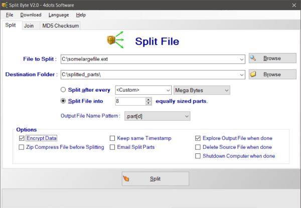 El mejor software gratuito de File Splitter y Joiner para Windows 10 1