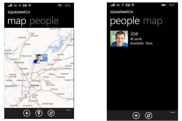 SquadWatch: Aplicación de Windows Phone para compartir ubicaciones desde Microsoft Garage 2