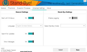 El software Stand-Bye le permite configurar el modo de reposo de Windows y ahorrar energía