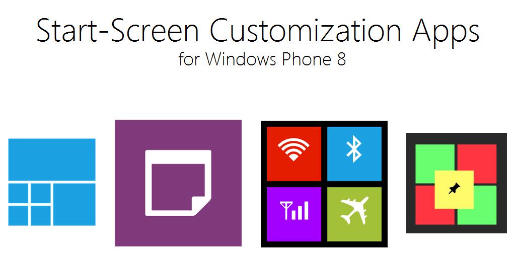 Pantalla de inicio Aplicaciones de personalización para Windows Phone 8 1