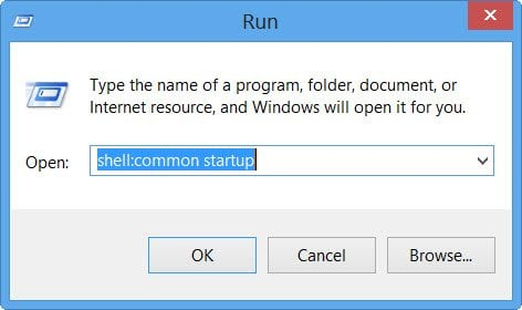 Ubicación de la carpeta de inicio en Windows 10