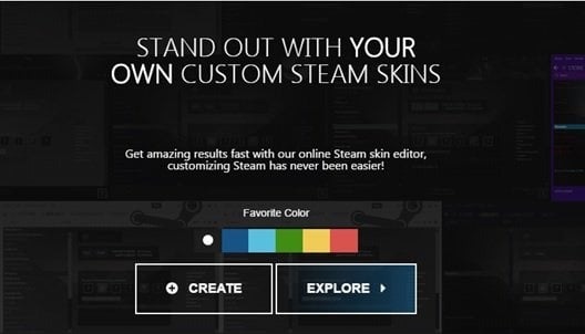 Steam Customizer allows you to create your own Steam 2 skin