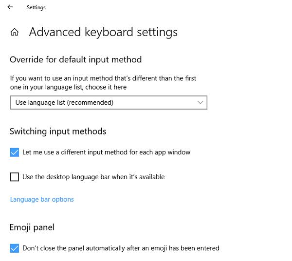 Corrección de los cambios de idioma del teclado de Windows 10 por sí solo 1