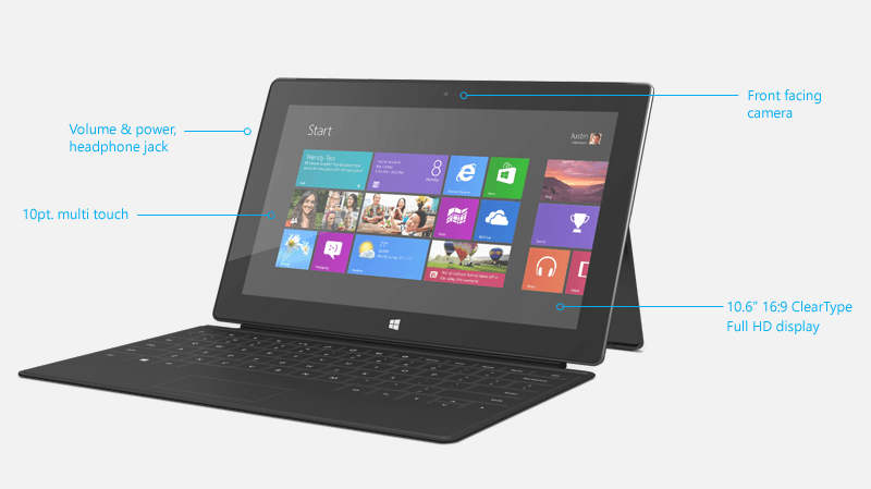 Especificaciones de Microsoft Surface Pro Tablet