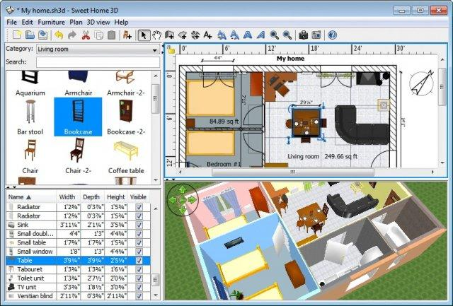 Sweet Home 3D: Software de diseño de interiores gratuito para Windows